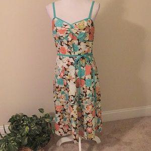 LOFT floral sundress with adjustable straps